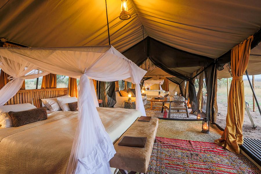 Family tent at Legendary Serengeti Mobile Camp