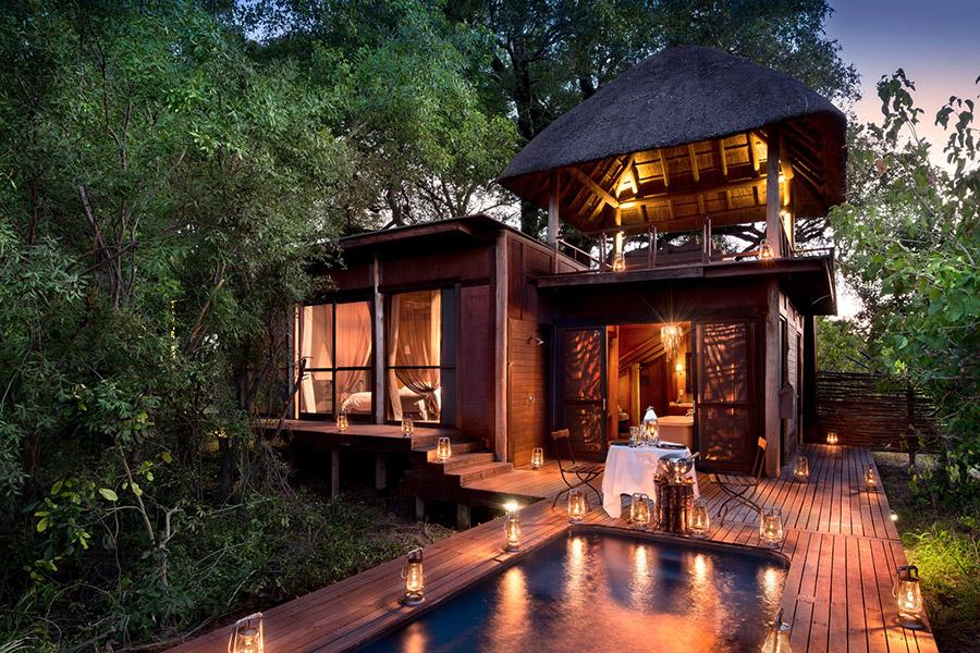 Luxury suite with pool at &Beyond Xudum Okavango Delta Lodge