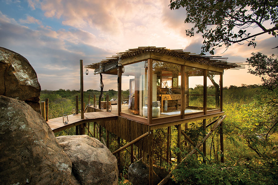 Luxury sleep-out at Lion Sands Ivory Lodge