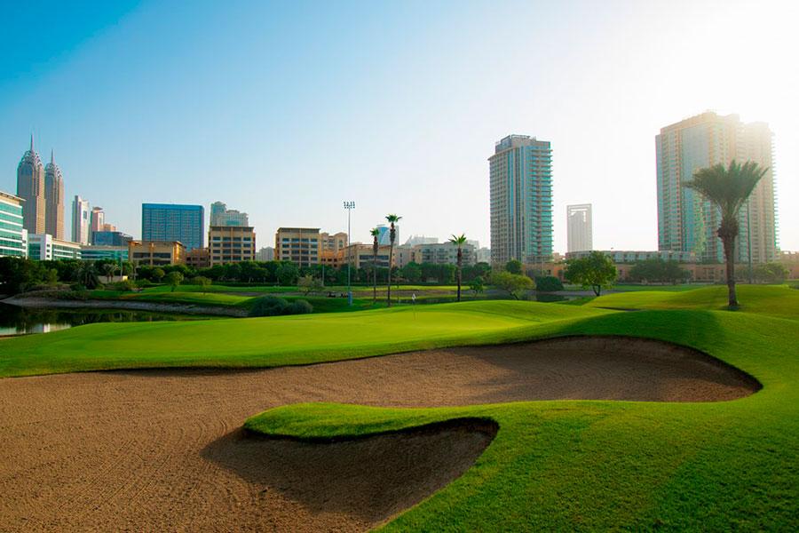 12th Hole at The Faldo - Emirates Golf Club, Dubai