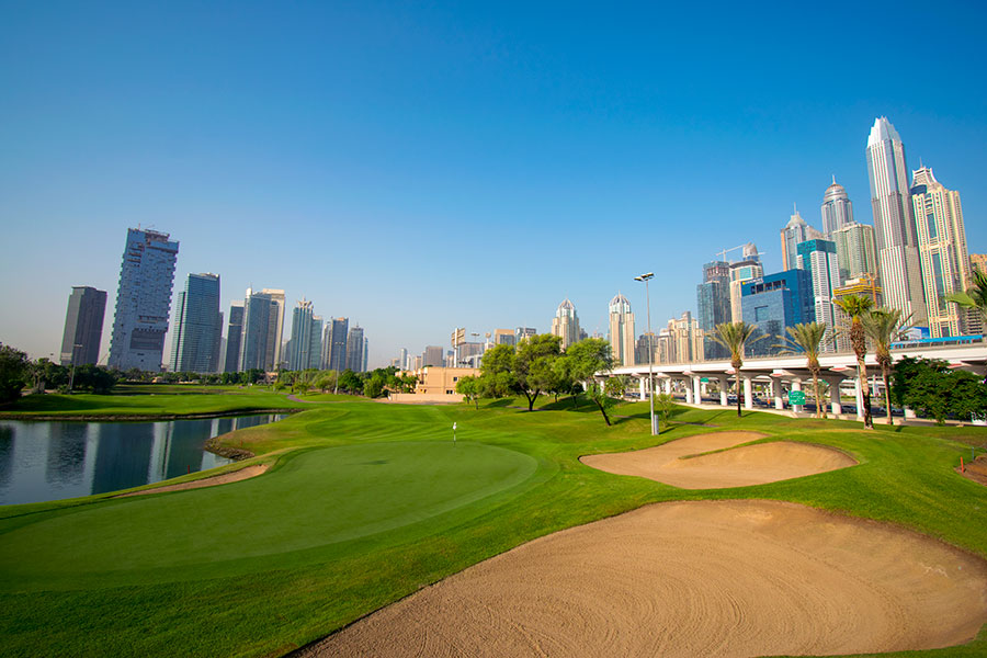 9th Hole at The Faldo - Emirates Golf Club, Dubai