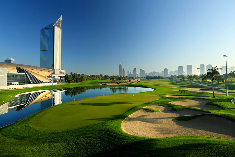 18th Hole at The Faldo - Emirates Golf Club, Dubai