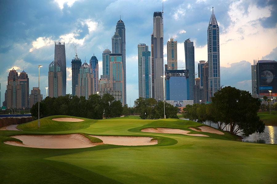 6th Hole at The Faldo - Emirates Golf Club, Dubai