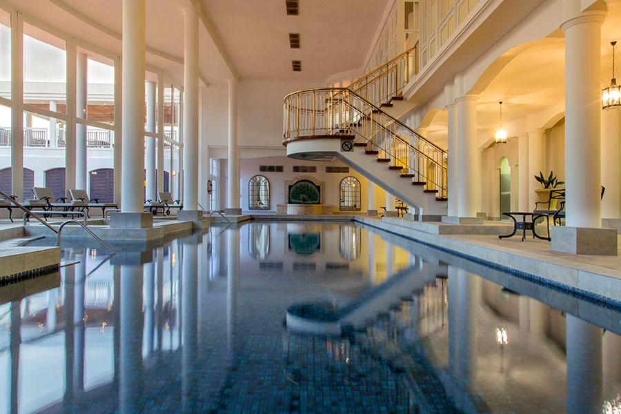 Beautiful Roman bath at Fancourt Hotel