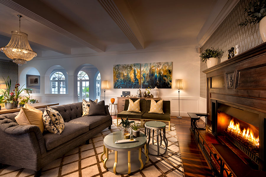 Living area at Fancourt Manor House