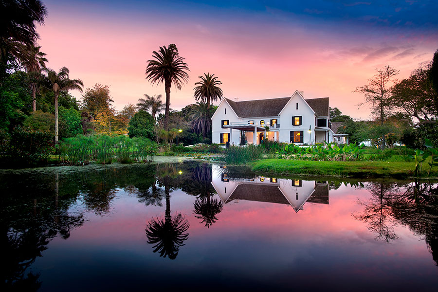 Exterior of Fancourt Manor House viewed from Montagu golf course