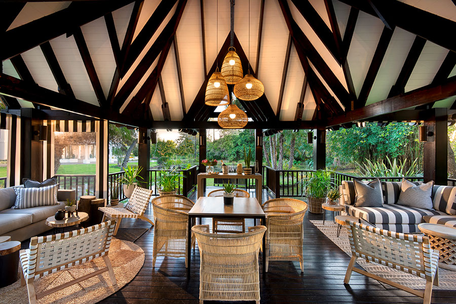 Outdoor lounge area at Fancourt Manor House