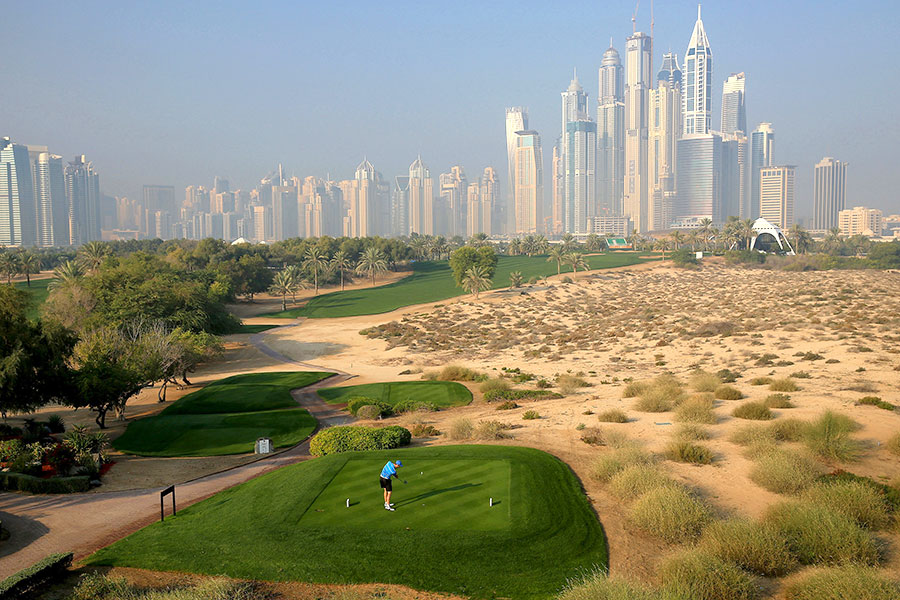 8th Hole at The Majlis - Emirates Golf Club, Dubai