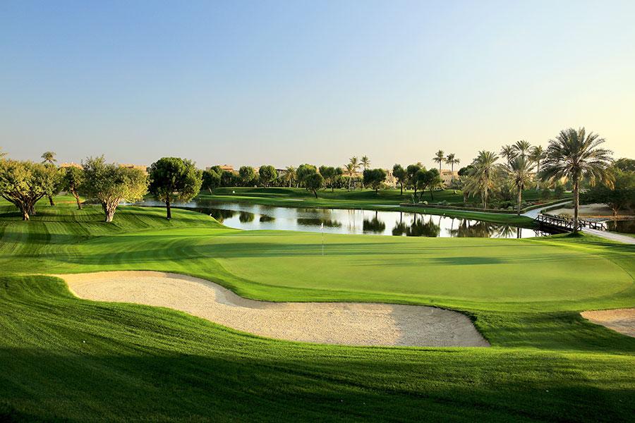 7th Hole at The Majlis - Emirates Golf Club, Dubai
