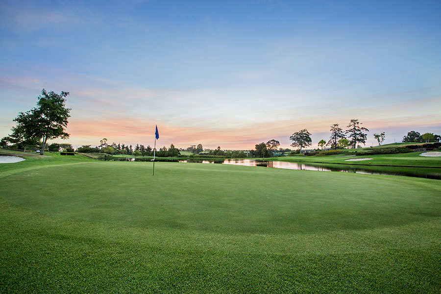 Greens at Fancourt Montagu Golf Course - Number 9 in South Africa