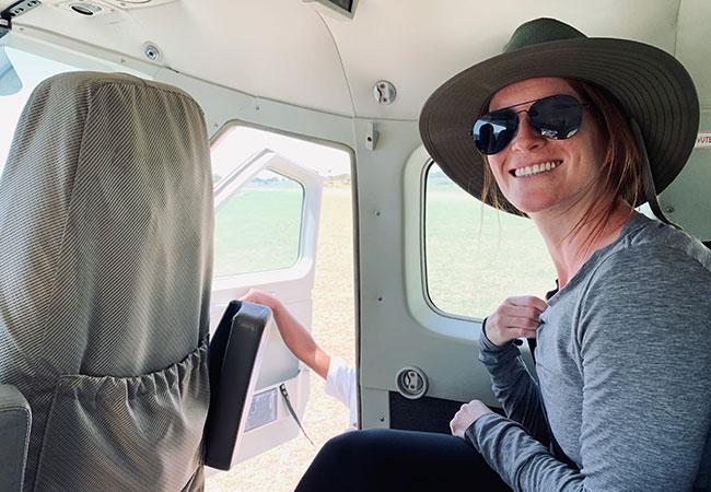 Flying to Karen Blixen Camp