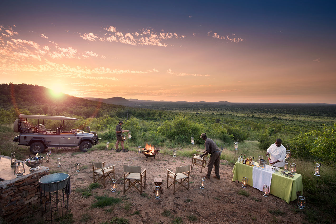 Luxury South Africa Safari - Bush Dinner in Madikwe Game Reserve, Morokuru Safari