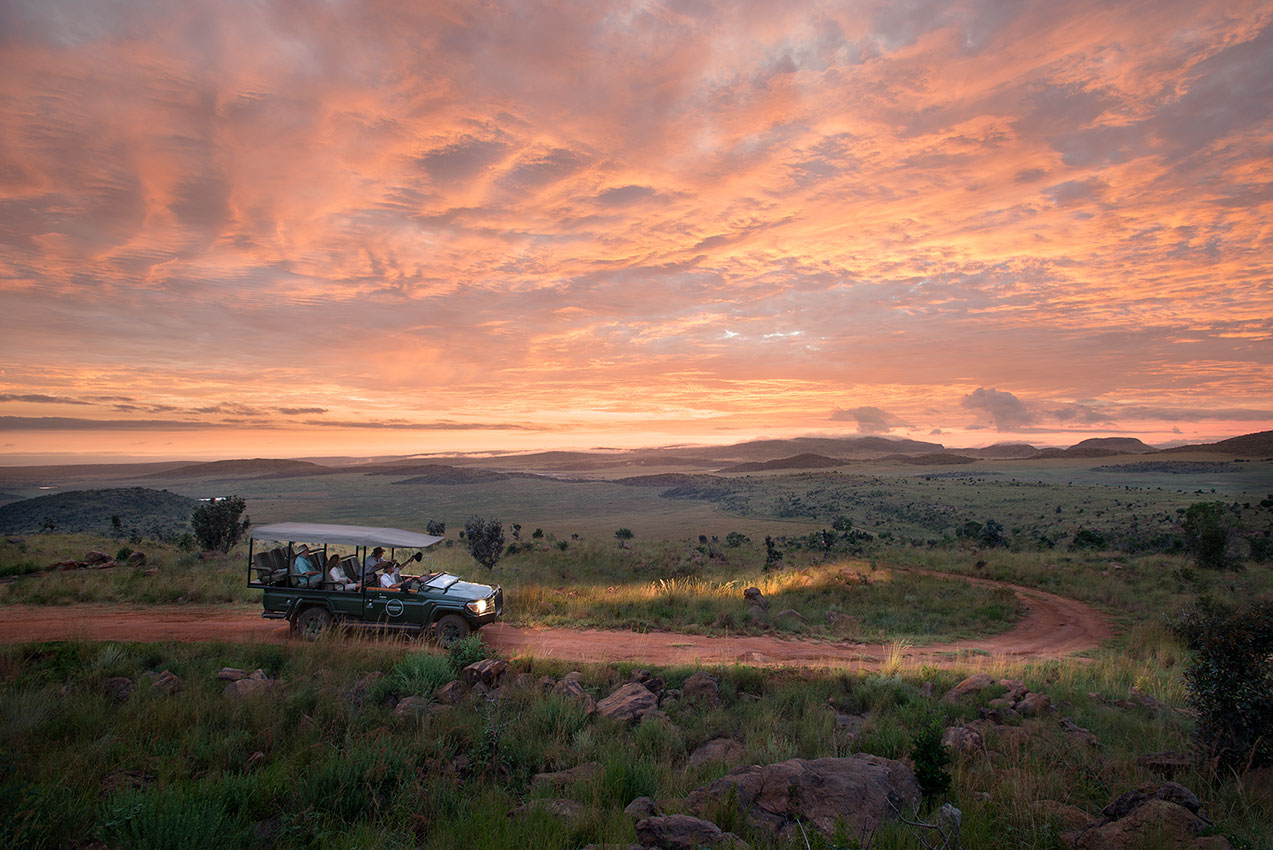 Safari Vehicle in Welgevonden Game Reserve - South Africa Safari Vacations