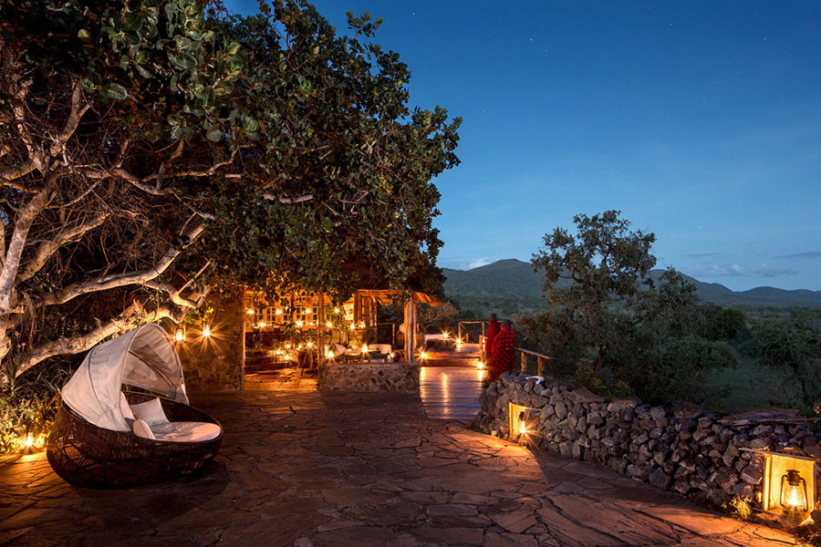 Campi ya Kanzi Outdoor Lounge - Kenya Safari Camps