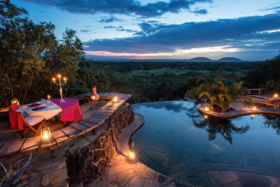 Pool at ol Donyo Lodge - Chyulu Hills Kenya Safari