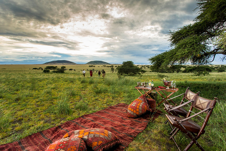 Sundowners at ol Donyo Lodge in Kenya